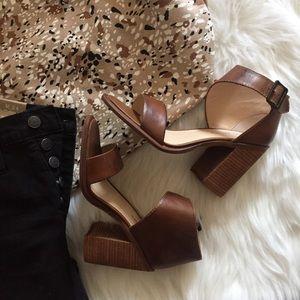 kelsi dagger | vintage leather block heel